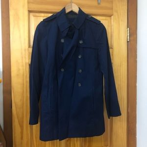 Zara Basic Navy Trench Coat